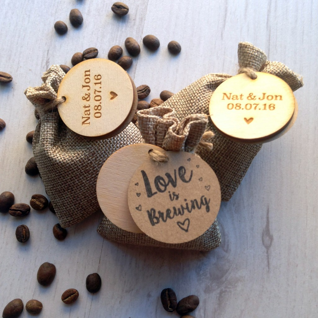 Ideas Of Wedding Favours: Personalised Coffee Wedding Favours
